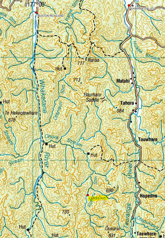 MAP OF LANCES HUT LOCATION